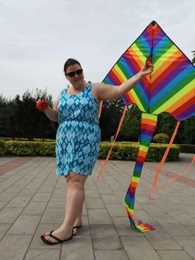 Nicole with kite